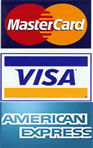 Visa MasterCard & American Expresss Accepted Via Secure Payments Portal