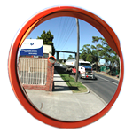 Traffic Mirrors With Visor